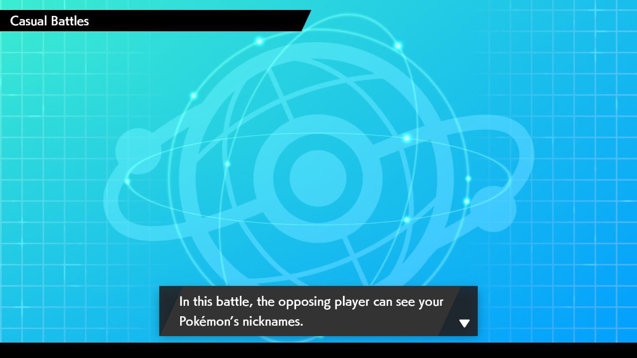 Step 6: Don't worry about the dialog box stating that the opposing player can see nicknames - this isn't the case for actual live tournament play.