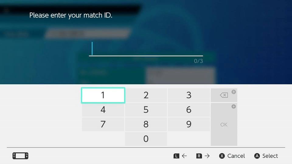 Step 12: Enter the Match ID per instructions from the TO when the battle begins.