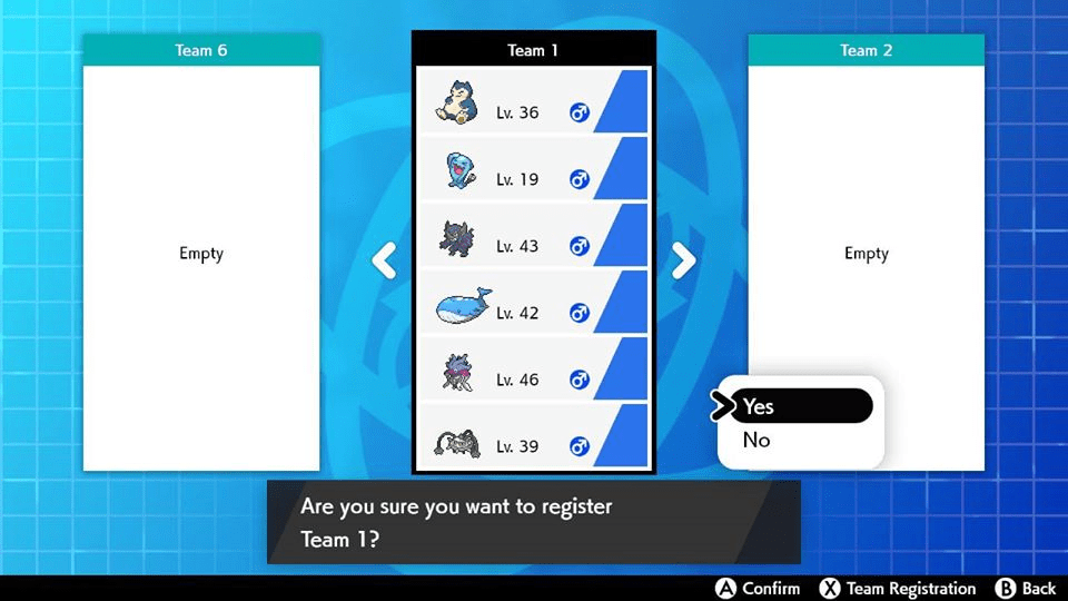 Step 10: Select 𝗬𝗲𝘀 to confirm your Battle Team.